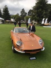 George M. Sfeir. Kaliste Saloom. At W Motors Lyken Testing Ferrari ATS Classing Bugatti Concur D'Elegence Quail Monterey California Aug 24-2018